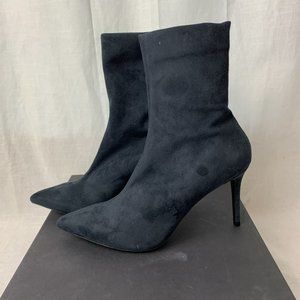 Theory Stretch Suede Navy Sock Boot NIB $510